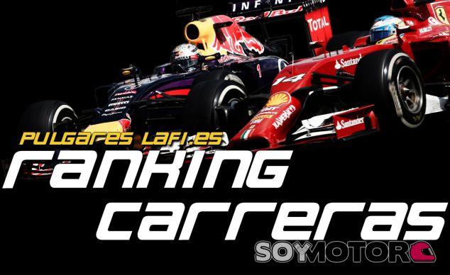 Los Pulgares de LaF1.es: Ranking de Carreras - LaF1