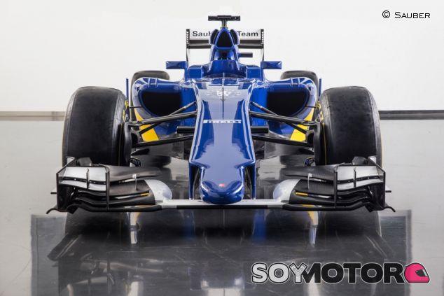 Vista frontal del Sauber C34 - LaF1