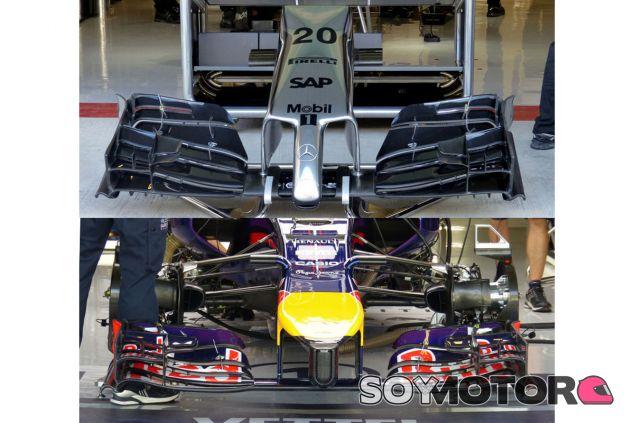Comparativa entre el nuevo alerón de McLaren y el de Red Bull - LaF1