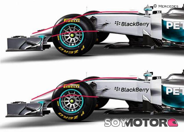 Detalle del Mercedes W05 Hybrid - LaF1