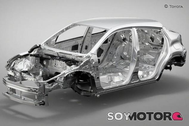 Chasis del Toyota CH-R sobre la plataforma TNGA - SoyMotor.com
