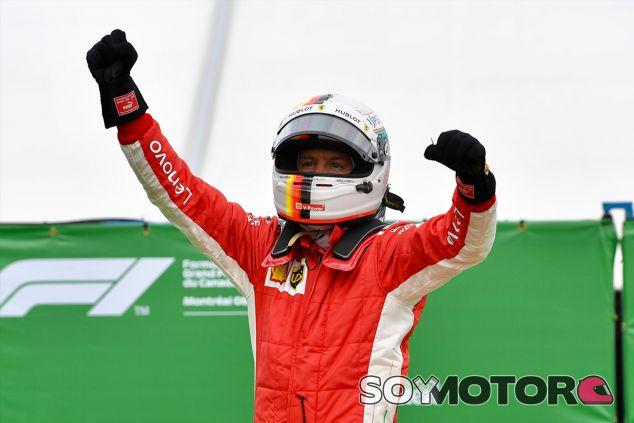 Sebastian Vettel celebra su victoria en Montreal - SoyMotor.com