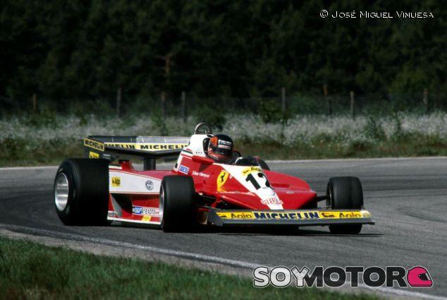 Gilles Villeneuve derrapando con su Ferrari - LaF1