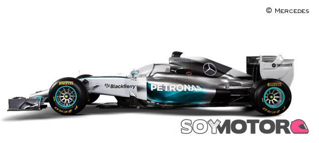 Mercedes con el cokpit cerrado - LaF1.es