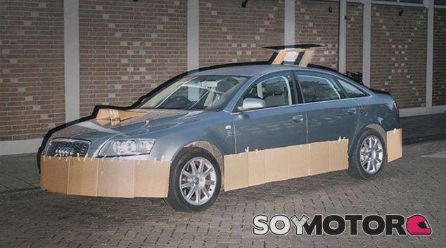 Este Audi ha sido una de las víctimas del tunning de cartón - SoyMotor