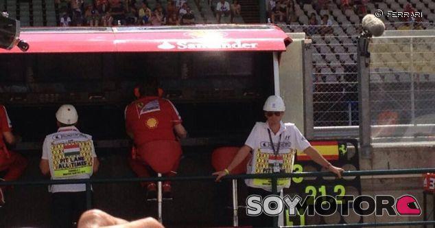 Pit wall de Ferrari en Hungaroring