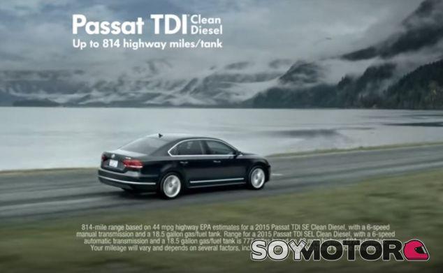 Este es uno de los anuncios considerados como 'marketing engañoso' de Volkswagen - SoyMotor