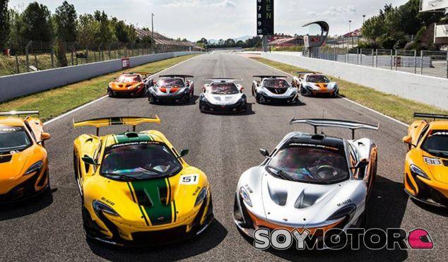 Los dueños de los espectaculares McLaren P1 GTR han disfrutado en Montmeló - SoyMotor