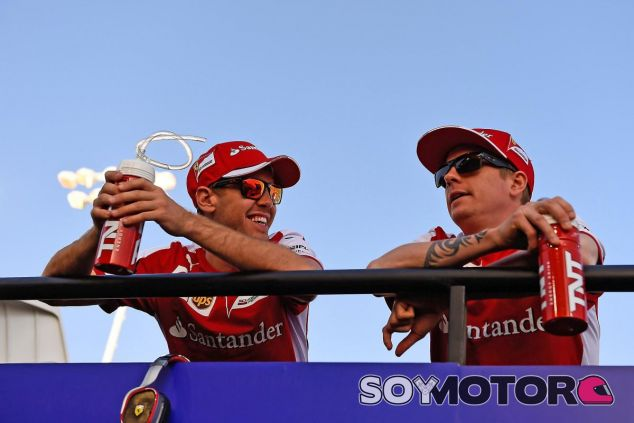 Mejor imposible, así ha sido y es la relación entre Vettel y Räikkönen en la Scuderia - LaF1