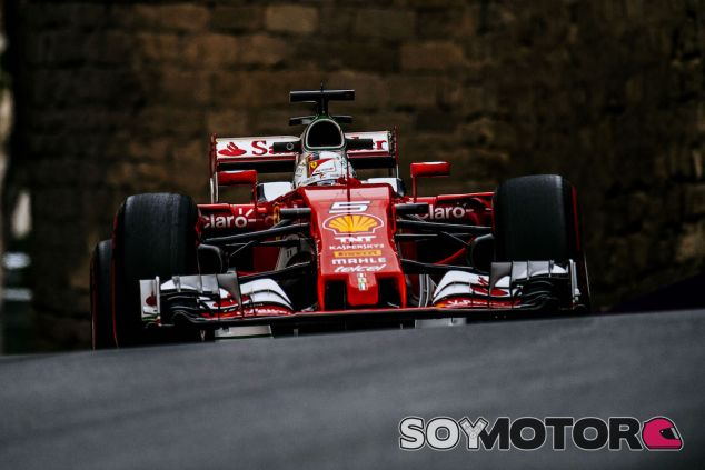 Sebastian Vettel con el SF16-H en Bakú - LaF1