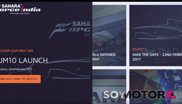 Nuevo diseño de web para Force India - SoyMotor.com