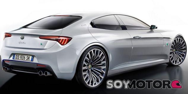 Render del futuro Alfa Romeo Giorgio - SoyMotor.com