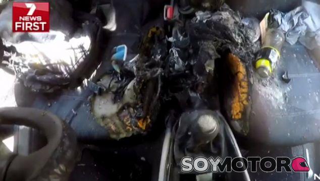 Así quedó el interior del vehículo tras el incendio del iPhone 7 - SoyMotor
