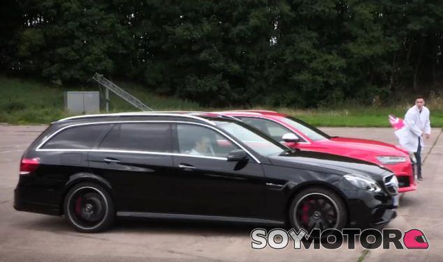 Audi y Mercedes, un duelo casi eterno. Hoy en forma de drag race de familiares - SoyMotor