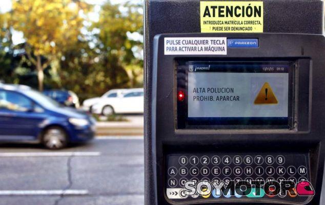 Un parquímetro de Madrid - SoyMotor.com
