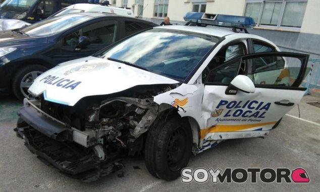 Así quedó el Citroën de la Policía Local tras el accidente - SoyMotor