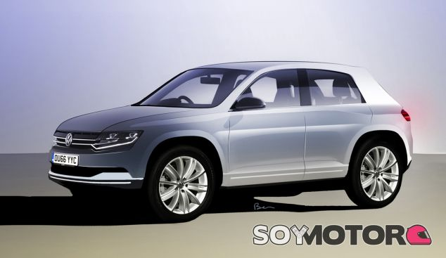 Boceto de la imagen que tendría un SUV basado en la plataforma del Volkswagen Polo - SoyMotor