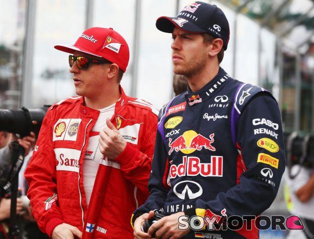 Kimi Räikkönen y Fernando Alonso en el Gran Premio de Australia - LaF1