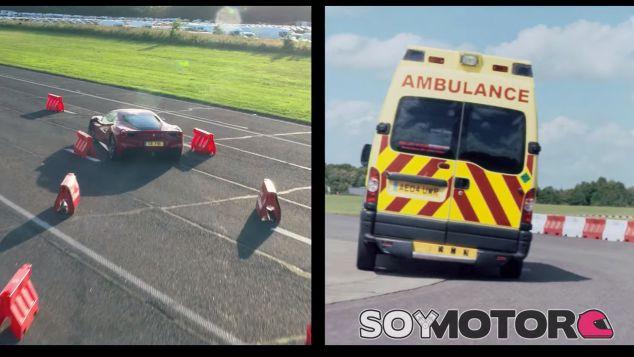 Ferrari 488 GTB vs. Vettel en una ambulancia - SoyMotor