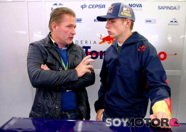 Max Verstappen junto su padre Jos en Spa-Francorchamps - LaF1