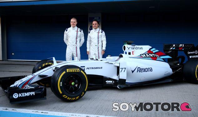 Felipe Massa y Bottas presentando el FW37 - LaF1.es