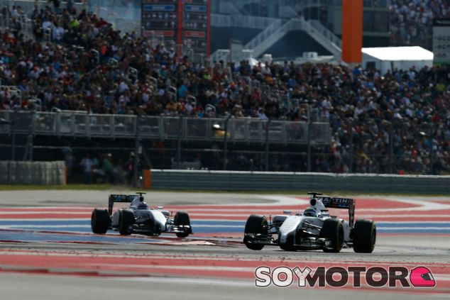 Los Williams en las 'eses' del COTA en 2014 - LaF1