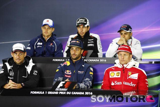 Ricciardo, Ericsson, Massa, Pérez, Button y Raikkonen en rueda de prensa en Canadá - LaF1