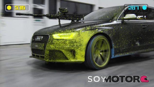La batalla de paintball definitiva y dos Audi RS4 Avant como armas
