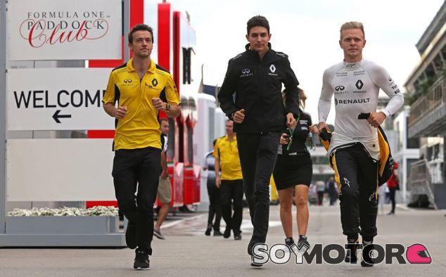 Jolyon Palmer, Esteban Ocon y Kevin Magnussen - LaF1
