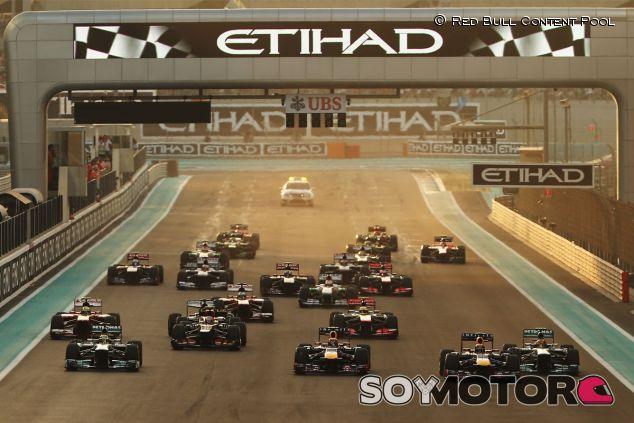 Salida del Gran Premio de Abu Dabi - LaF1