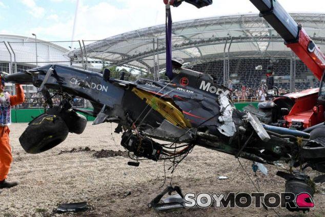 Así quedó el MP4-31 de Alonso tras el accidente - LaF1
