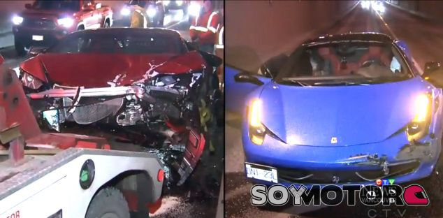 Dos veinteañeros destrozan un Lamborghini Huracan y un Ferrari 458 - SoyMotor.com