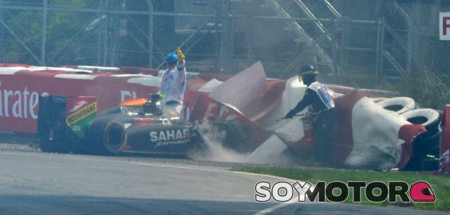 La FIA revisará hoy el accidente de Pérez y Massa en Canadá