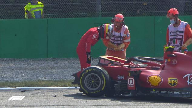 Accidente de Sainz en los Libres 2 del GP de Italia