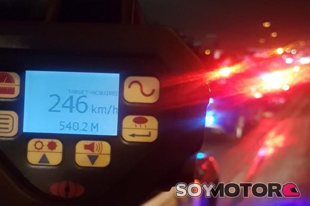 Esta es la imagen que se encontraron los agentes en su radar - SoyMotor.com