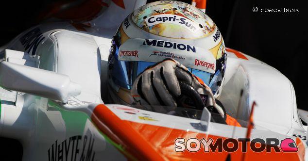 Adrian Sutil cumple 100 grandes premios en Hungaroring