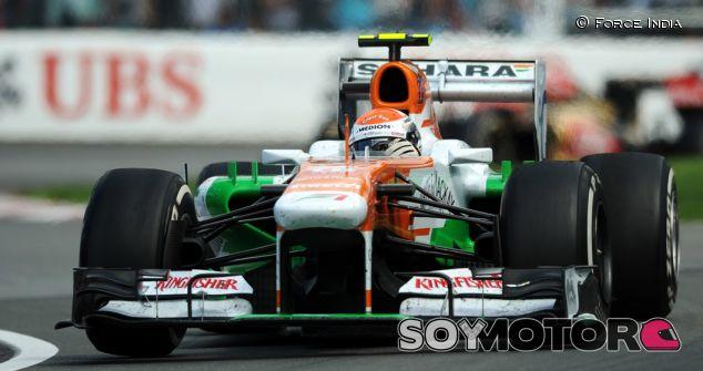 Adrian Sutil durante el GP de Canadá 2013