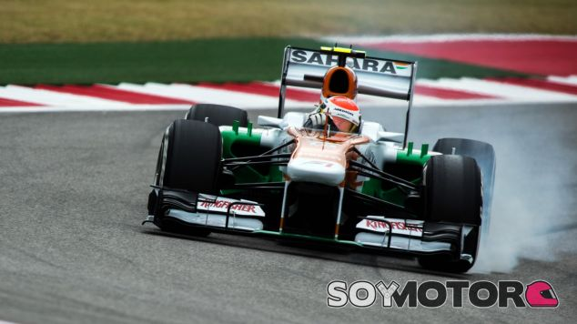 Adrian Sutil en el Force India VJM06
