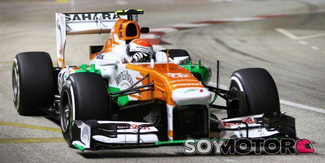 Adrian Sutil hoy en Singapur con el VJM06 - LaF1