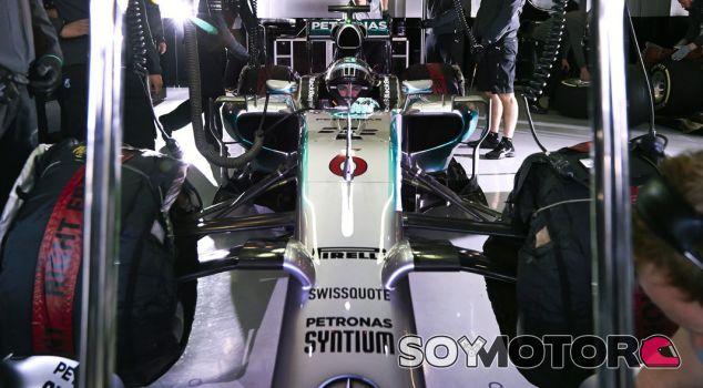 Alerón delantero de Rosberg en los test de Abu Dabi - LaF1.es