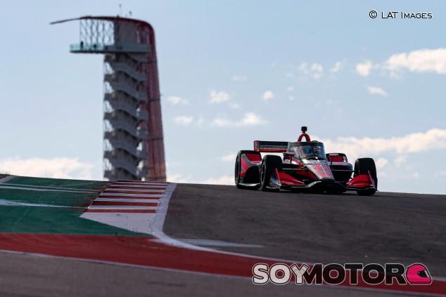 Alex Palou en los test de IndyCar 2020 en Austin - SoyMotor.com