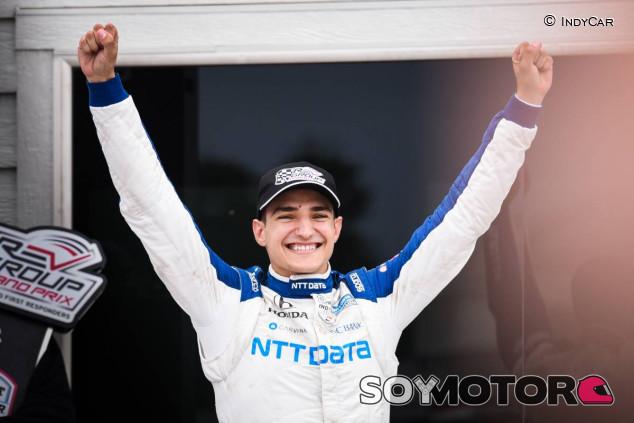 Alex Palou celebra su victoria en Road America - SoyMotor.com