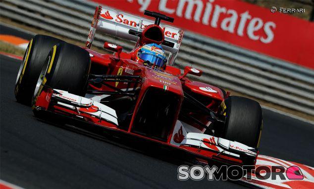 Fernando Alonso durante la clasificación del GP de Hungría