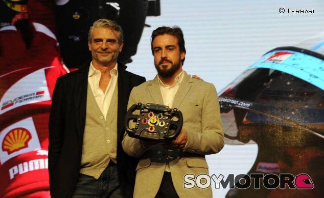 Fernando Alonso con Maurizio Arrivabene - LaF1