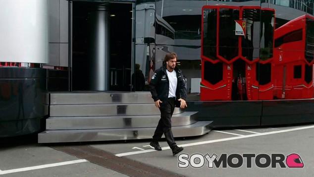 Fernando Alonso, esta mañana en Austria - laF1