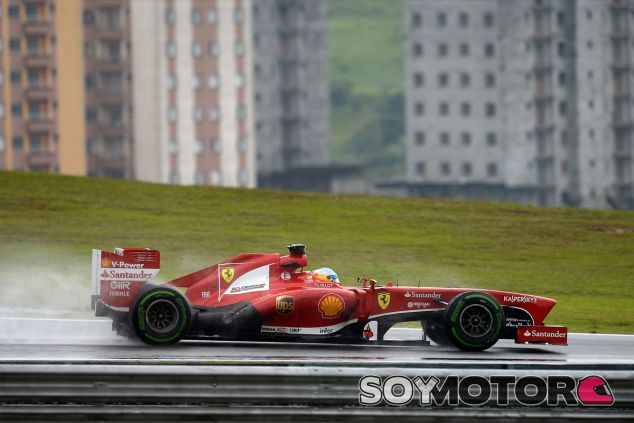 Fernando Alonso y su F138 ante Sao Paulo - LaF1