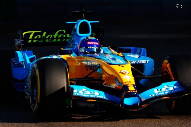 Alonso vuelve a pilotar el Renault R25: reencuentro en Abu Dabi - SoyMotor.com