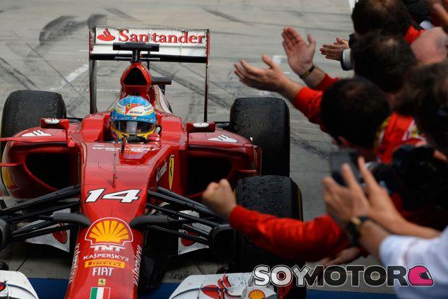 Fernando Alonso al terminar el Gran Premio de Hungría - LaF1