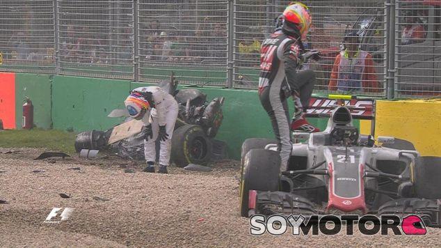 """Gutiérrez: """"Simplemente frené... Fue un momento de mucho miedo"""" - LaF1"""