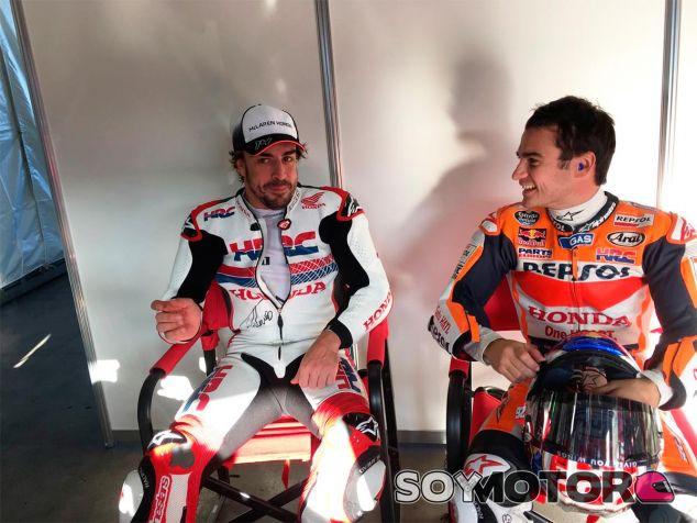 Fernando Alonso y Dani Pedrosa en los preparativos del Honda Thanks Day - LaF1